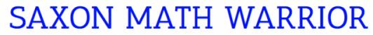 Saxon Math Warrior Logo